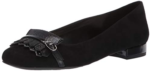 Anne Klein Women's ULANEE Loafer Flat, Black Fabric, 8.5 M ()