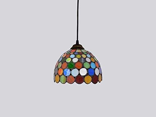 (Dobany Tiffany Style Chandelier, Vintage Art Stained Glass Ceiling Light, Bar Restaurant Bar Pendant Light, 20CM,E27)