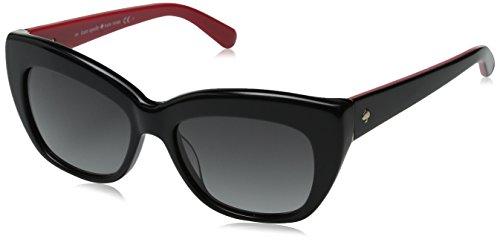 Kate Spade Women's Crimson/S Cateye Sunglasses, Black & Gray Gradient, 50 mm