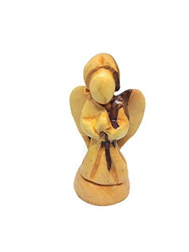 Amazoncom Hand Carved Olive Wood Angel Figurine 4 Bethlehem