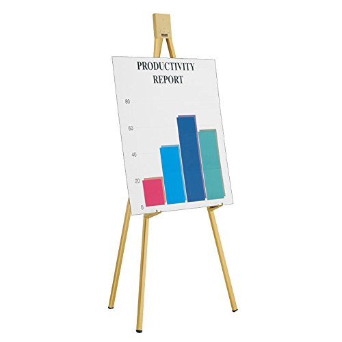 Folding Flipchart Easel Finish: Gold Anodized by Da-Lite