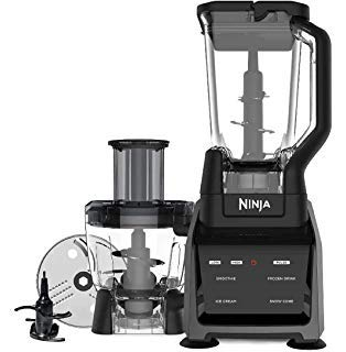 Ninja Intelli-Sense Kitchen System Blender Powerful 1200-Watt Motor Base with a Touch screen Display 72oz Pitcher 64oz Processor Bowl CT680CO2SS (Renewed)