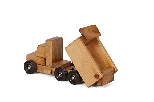 Amish-Made Wooden Toy Dump Truck, Child-Safe Finish