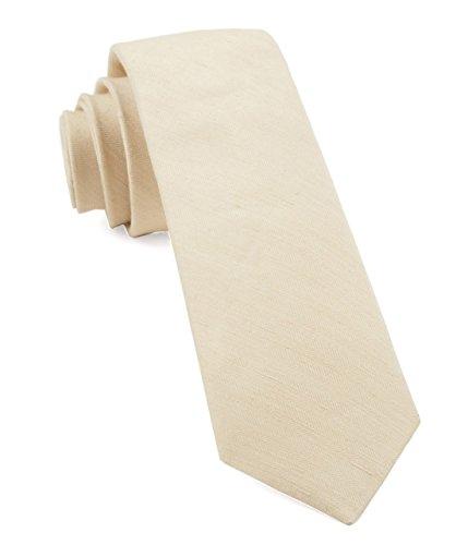 - The Tie Bar Linen Blend Linen Row Light Champagne Skinny Tie