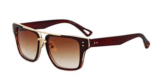 GAMT Classic Metal Suqare Frame Gradient Lens Aviator Sunglasses for Men - Sunglasses Cheap Dragon