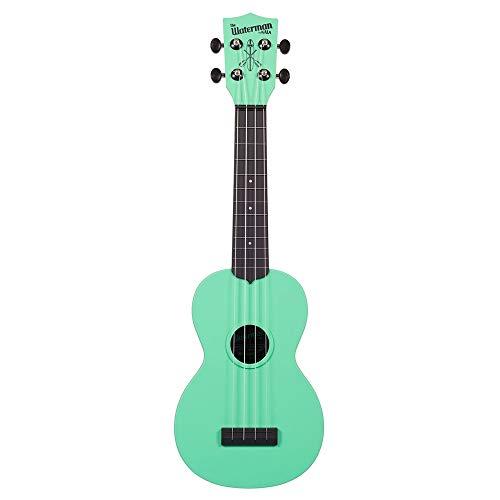 Kala Makala Waterman Soprano Ukulele with Color Top/Black Back (Seafoam Green)