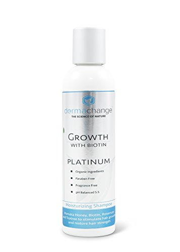 DermaChange Platinum Hair Growth Shampoo - With Vitamins - To Make Hair Grow Fast - Argon Oil and Biotin To Support Regrowth - Reduce Thinning and Hair Loss For Men and Woman