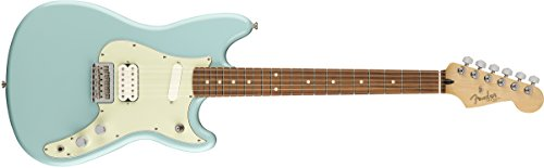 - Fender Duo-Sonic HS 6-String Electric Guitar w/ Pau Ferro - Daphne Blue