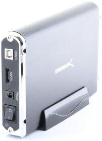 EC-UEIS7 Sabrent USB 2.0//ESATA TO 3.5 Inch IDE or SATA//SATA II Aluminum Hard Drive Enclosure Case with Cooling Fan