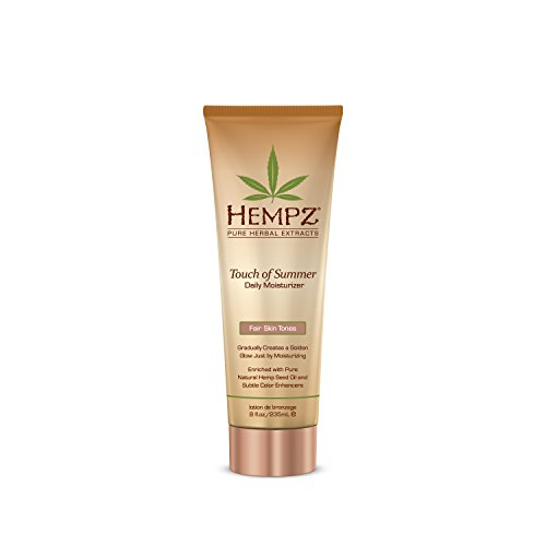 (Hempz Touch of Summer Daily Moisturizer, Fair Skin Tones, 8 Fluid Ounce)