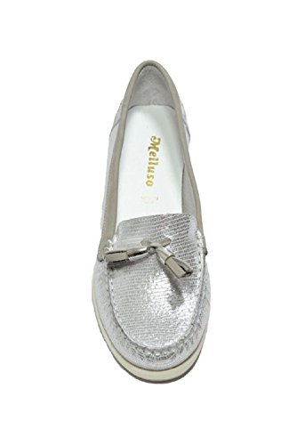 Argento 01023 Donna Pelle Mocassino Melluso In ZXnwdpnqvW