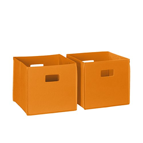RiverRidge Kids 2pc Soft Storage Bins, - Orange Handle Polypropylene