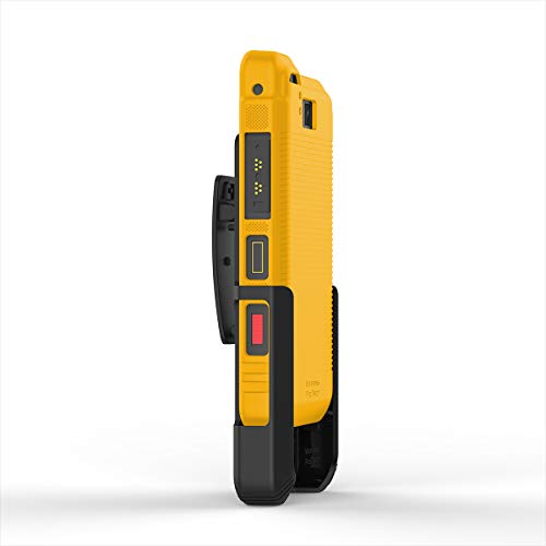 Wireless ProTECH Belt Clip Holster and TPU Shell Combo Compatible with Sonim XP8 XP8800 (Yellow)