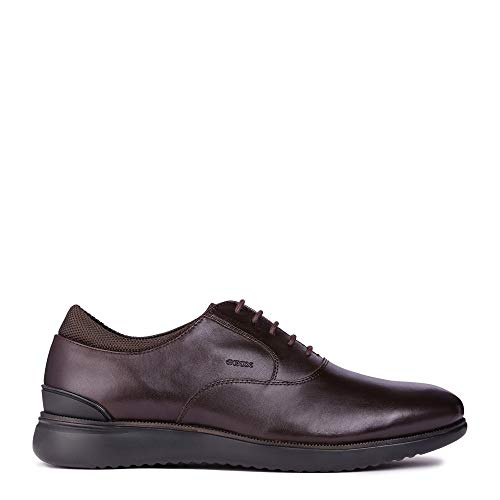 Geox U Winfred A Smooth Leather Mens Oxfords-Shoes U844CA-04311-C6009_9 - Coffee