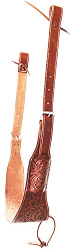 CHALLENGER Western Carved Leather Rear Flank Cinch Girth Saddle Billets 9772DT ()