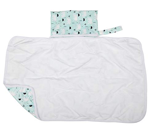 Sigzagor Baby Diaper Changing Mat Pad Portable Foldable Washable Compact Travel Nappy Waterproof Play Mat 30inx18.5in (Polar Bear)