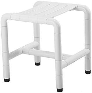 AZHom Bad Anti-Rutsch-Sicherheitsschemel zur Stärkung der älteren Menschen mit Beinen Bad Stuhl Dusche Bank Änderung Schuh Bank Bad WC Bad Stuhl Badestuhl (Color : White)