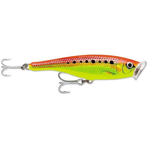 Rapala Skitter Pop Saltwater 12 Fishing Lure - Fire Chartreuse (Rapala Skitter Pop)