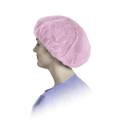 Keystone Safety 110NWI-10-24-PINK Bouffant Cap, 24'' Size, Pink (Pack of 1000)