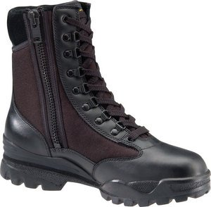 Corcoran Mach 9' Side Zipper Boot Steel Toe (8.0) Black