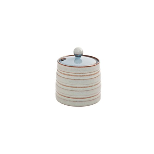 Denby Heritage Terrace Covered Sugar, Gray