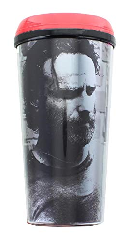 JUST FUNKY The Walking Dead OFFICIAL Rick Grimes #TeamRick PREMIUM Travel Coffee Mug, 16oz