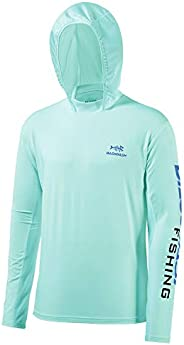 Bassdash UPF 50+ Men's UV Sun Protection Long Sleeve Performance Fishing Hoodie Hooded Shirts