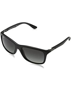 INJECTED MAN SUNGLASS - MATTE BLACK Frame GREY GRADIENT Lenses 57mm Non-Polarized