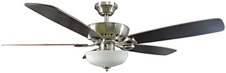 Harbor Breeze Paddle Stream 52 In Brushed Nickel Indoor Downrod Or Close Mount Ceiling Fan With