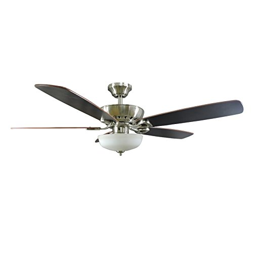 Harbor Breeze Paddle Stream 52-in Brushed Nickel Indoor Downrod Or Close Mount Ceiling Fan with Light Kit and Remote