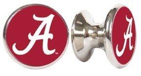 Alabama Crimson Tide NCAA Stainless Steel Cabinet Knobs / Drawer Pulls  (2 Pack)