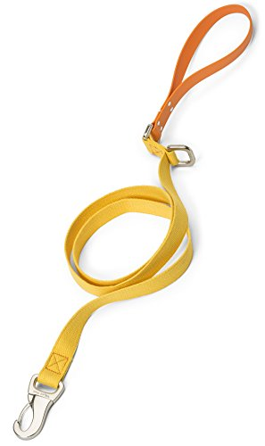 West Paw Strolls Dog Leash with Comfort Grip, Large, Goldenrod - Tangerine, Made in USA