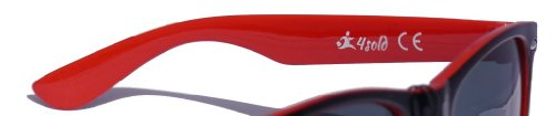 cristales Negro con 4sold Gafas sol de diseño unisex Negro negro ochentero ahumados TM vATwAqxX