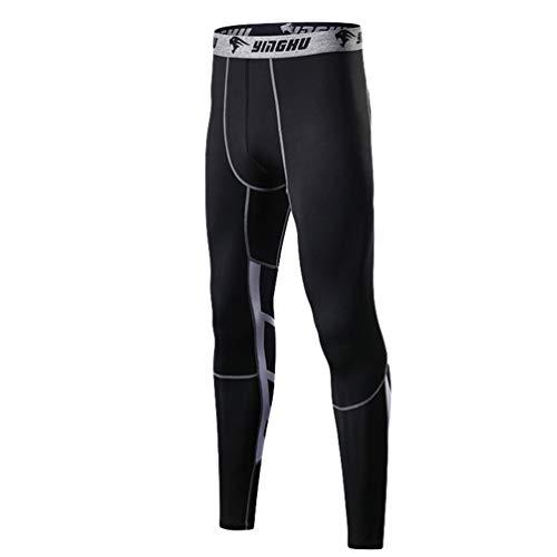 Stagioni Pantalone Tutte Lvguang Per 2 Layer Sport Ghette Le Fitness Tights Collant Ciclismo Pilates Base Uomo Nero Compressione Yoga ww6qaE