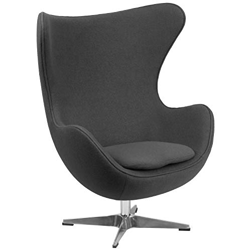 Flash Furniture Gray Wool Fabric Egg Chair