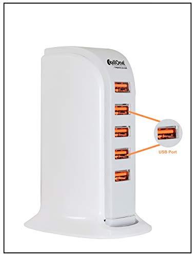 CallOne 5 USB Multi Port UK Plug Charger Desktop HUB Charging Station
