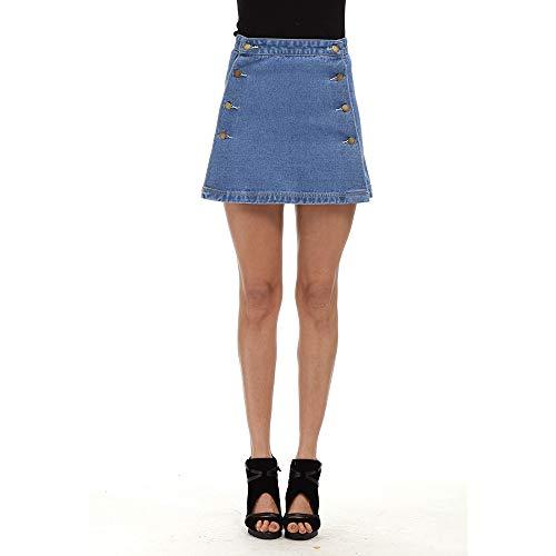 L courte Blue Jupe Size Color Blue denim en femme pour 6wCqfgpx