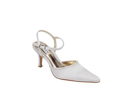 en chaussure ivoire de strass et mariée pour Lexus pointu Bout Ivoire wqAxT6Rq
