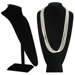 Black Velvet Extra Tall Necklace Display - 18