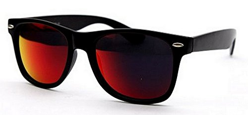 Sunglasses Classic 80's Vintage Style Design (Black Revo Dark - Sunglasses Lens Dark