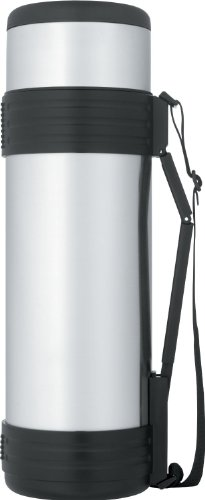 Thermos Nissan Stainless-Steel Bottle with Folding Handle (61 Ounce) by Thermos