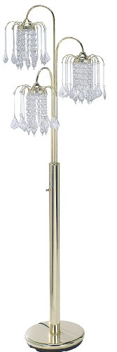 ORE International 6866G Floor Lamp, Polished Brass - Polished Floor Lamp