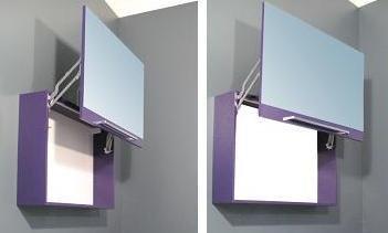 Specchio Specchiera Contenitore da Bagno da 90x60Hx20P Rettangolare  Disponibile in 20 colorazioni 1 l
