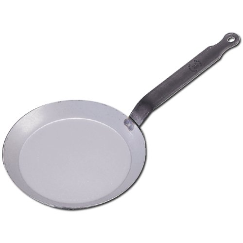 De Buyer Professional 30 cm Carbone Plus White Iron Round Crepe and Pancake Pan 5120.30 (Buyer De Crepe Pan)