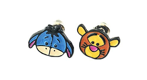 (Eeyore and Tigger Winnie the Pooh Stud Earrings With Gift Box from Outlander)