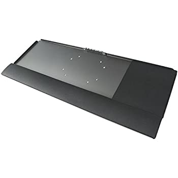 VIVO Deluxe Computer Keyboard Tray Holder for VESA Mount Stand / Fits VESA 100mm (STAND-KB2)