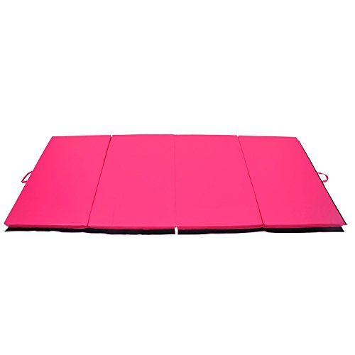 Folding Gym Mat 4' x 10' x 2'' Gymnastics Aerobics Exercise Yoga Tumbling Mat With Ebook by MRT SUPPLY