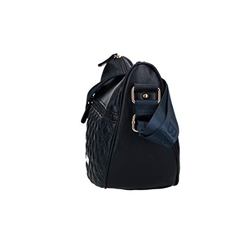 Shoulder Vn2892 Biagiotti Woman With Blue Bag Opening L Zip TwdS4