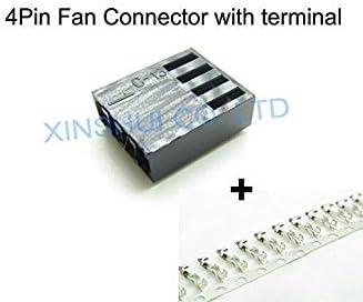 IDEA High Connectors 2510 - Conector Hembra para Ventilador de 4 Pines con 4 Pines de Terminal, 10 Unidades Blanco: Amazon.es: Informática