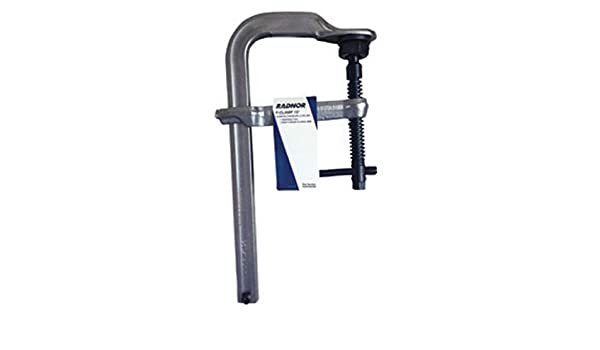 Radnor 8 Metal Heavy Duty Floor Clamp with Tempered Rail and Drop-Forged Sliding Arm